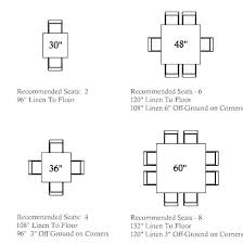 normal dining table size square seating guide intended for room round dining table for 8 room