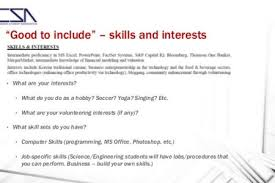 interests on resume resume interest examples interests on resume
