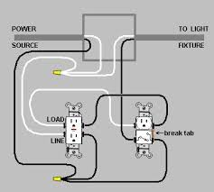electrical wiring a switch outlet combo device and gfci home gfci dual device outlet and light switch