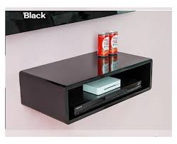 Floating Shelves For Sky Box Wall Mount Shelf Cube Sky boxDvdHifi units 100x100x100cm Black 2
