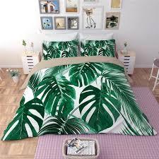 king size quilt bedding sets white green leaves bedding sets plant twin queen king size quilt duvet doona cover super king size bed comforter sets