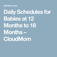 12 To 18 Months Baby Food Chart Daily Schedules For Babies At 12 Months To 18 Months