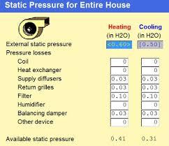 Static Pressure Hvac Chart Duct Design 2 Available Static Pressure Energy Vanguard