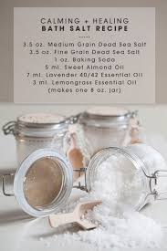 diy calming and healing bath salts recipe