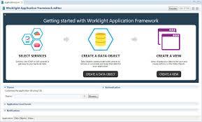 The Application tab of the IBM Worklight Application Framework editor
