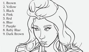 Small Picture Nicki Minaj Coloring Pages