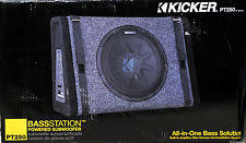 enclosed powered single kicker 10in speaker car subwoofers new kicker pt250 10 subwoofer built in 100w amplifier