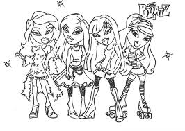 Small Picture Coloring Pages Bratz Glamor Girls Coloring Pages Disney Princess