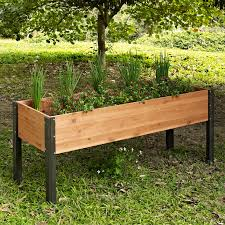 elevated garden bed. Coral Coast Bloomfield Wood Raised Garden Bed - 70L X 24D 29H In. | Hayneedle Elevated O