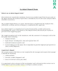 Incident Report Template Microsoft Word Inspiration Accident Report Book Template Free Construction Form Incident Forms