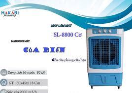 Quạt điều hòa cao cấp mẫu 8800 mẫu cơ sức gió 9000m3/h, dung tích bể nước  60L (BH 1 năm)