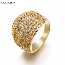 Qalo Men S Ring Size Chart Us 17 24 50 Off Vanaxin Wide Rose White Gold Qalo Men Ring Punk Hiphop Finger Darry Bling Aaa 234 Pieces Small Cubic Zirconia Rings For Women In