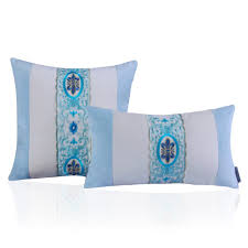 Light Bed Rest Middle East Top Quality Light Blue Bed Rest Embroidery Design Velvet Pillow Cover For Retail Sale Buy Velvet Pillow Cover Pillow Cover Embroidery
