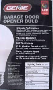 garage door opener bulbLEDB1R Genie Garage Door Opener Light Bulb
