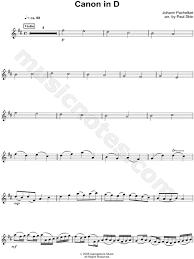 pachelbel canon violin sheet music