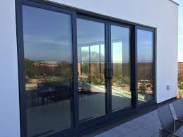 sliding glass patio doors black