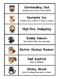 Pre K Paparazzi Owl Theme Behavior Chart And My First