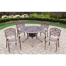 48 inch round table 5 cast aluminum dining set with inch round table and 4 chairs 48 inch round table