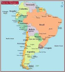 Map Of South America And The Andes
