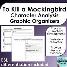 To Kill A Mockingbird Character Analysis Graphic Organizers