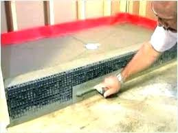 installing tile shower how to build a tile shower base pan custom liner installation replace cost