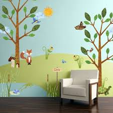 83 large forest animal fabric wall