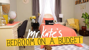Small Picture Bedroom on a Budget DIY Home Decor Mr Kate YouTube
