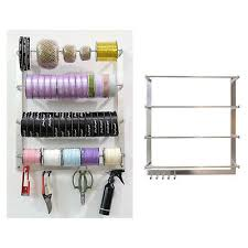 wall mounted wire spool rack storage
