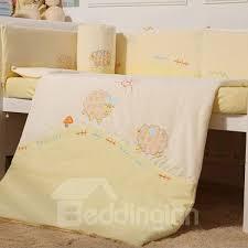 piece cotton baby crib bedding set