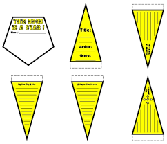 Template For A Star Star Book Report Project Templates Worksheets Grading Rubric And