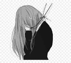 Anime posted on october 19, 2020. Drawn Sadness Sad Thing De Chicas Anime Tristes Sad Anime Girl Black And White Png Free Transparent Png Images Pngaaa Com
