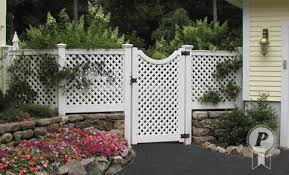 vinyl lattice fence panels. Vinyl Fence Idea. Stone Wall On Bottom With White Lattice Fencing Top. Nice Panels
