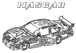Small Picture Printable nascar race car coloring page Coloringpagebookcom
