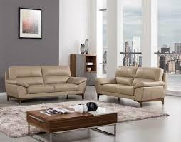 tan top grain italian leather sofa loveseat set 2 pcs american eagle ek080 tan for