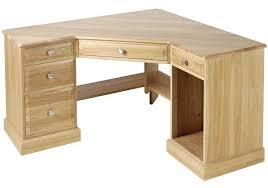 home office furniture corner desk. Furniture: Unfinished Oak Corner Desk With Keyboard Tray And Files Drawers Design For Home Office Improvement, Fascinating Furniture B