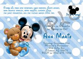 Free Printable Baby Mickey Mouse Invitations Baby Shower Invitations Charming Mickey Mouse Baby Shower