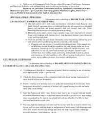 mechanical equipments list mechanical maintenance supervisor cv
