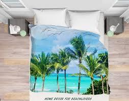 palms duvet cover palm trees miami