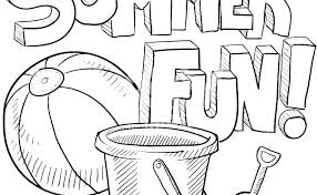 fun coloring pages beach themed free summer is bucket math worksheets for 4th grade fun coloring