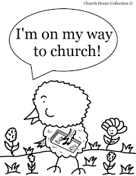 Free Church Coloring Pages Easter Chick Pageor Sunday School Kids