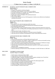Accounts Receivable Coordinator Resume Samples Velvet Jobs