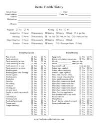 medical health history form printable dental health history sheet