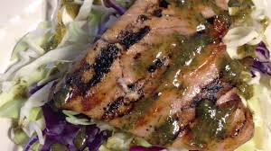photo of grilled tuna steaks with dill sauce by splashme