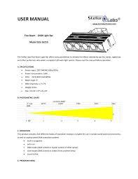 Manual For Five Beam Light Bar W Five Full White 9w Leds