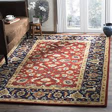 safavieh royalty collection roy256a handmade traditional rust and navy wool area rug 8