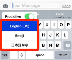 select the desired age keyboard to use in ios