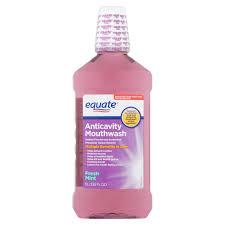 Equate Fresh Mint Anticavity Mouthwash 33 8 Fl Oz Walmart Com