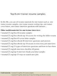Emr Resume Examples Top224emrtrainerresumesamples224lva224app62249224thumbnail24jpgcb=22424332492242476 1