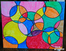Art For Kids Watercolor Circle Art Mess For Less
