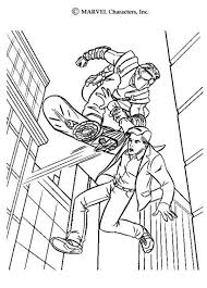 Small Picture Spiderman Catching New Goblin Spiderman Coloring Pages Boys